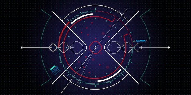 어둠에 새로운 사용자 인터페이스 컴퓨터 또는 스마트 폰 세트