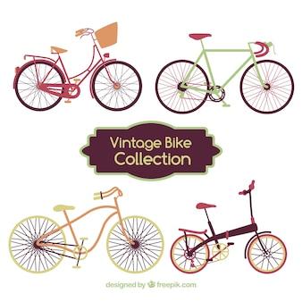 ヴィンテージスタイルの素敵な自転車のセット