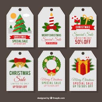 素晴らしいクリスマスステッカーのセット販売