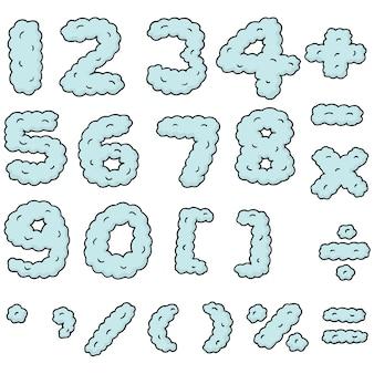 숫자의 집합입니다.