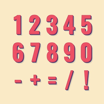 숫자 세트 및 계산