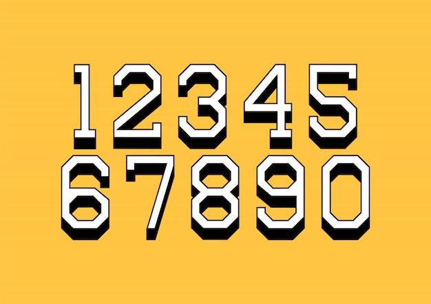 Набор чисел с 3d-изометрическим эффектом