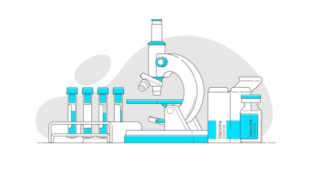 Набор объектов в плоском стиле с контуром для медицинского дизайна