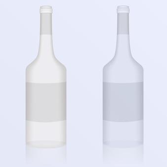 Набор иллюстраций чистых бутылок