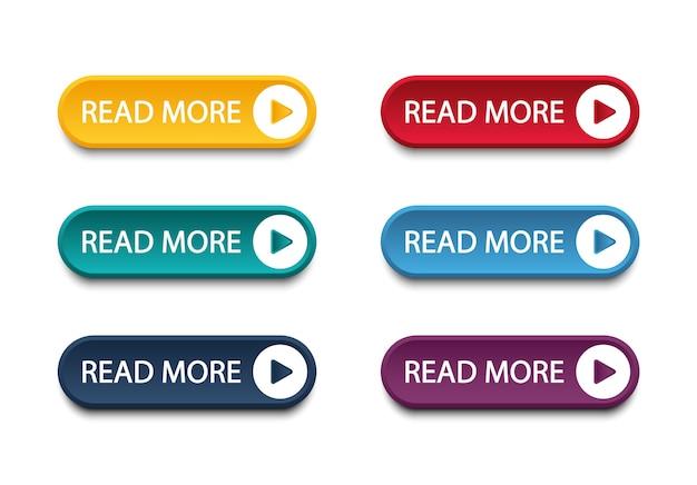 ウェブサイトとユーザーインターフェイスのモダンなボタンのセット