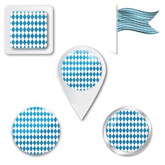 옥토버 페스트의 국기 아이콘 세트