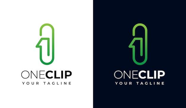 すべての用途のための1つのクリップまたは1つのクリップロゴクリエイティブデザインのセット