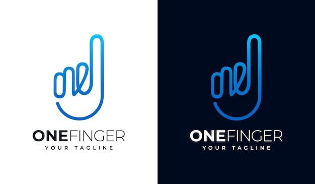 모든 용도를 위한 한 손가락 또는 한 손가락 로고 크리에이티브 디자인 세트