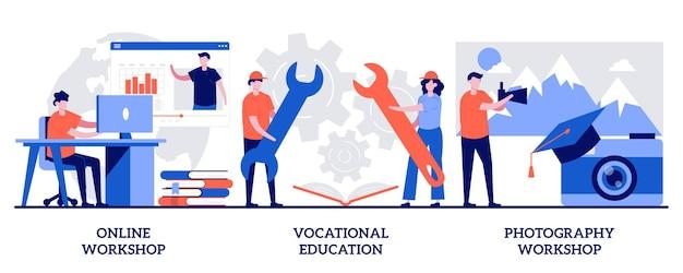 온라인 워크샵, 직업 교육, 사진 워크샵, 인터넷 학습 세트