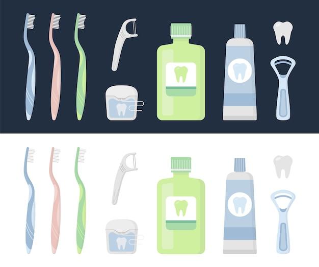 구강 위생 용품 및 치아 세척 도구 세트