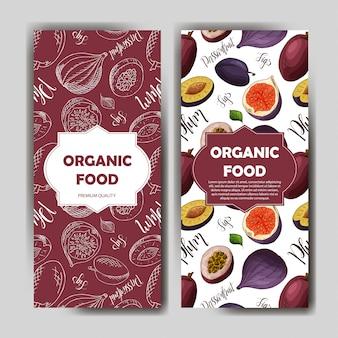 유기농 과일 카드 세트입니다.