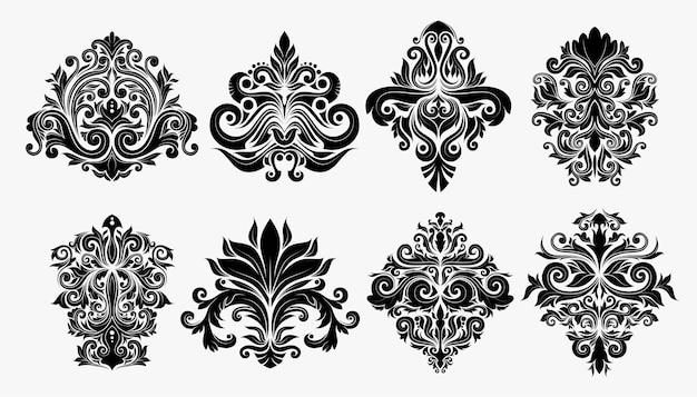 동양 벡터 다 마스크 패턴의 집합