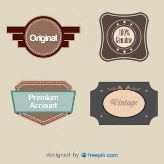 Set of Original Vintage Buckles Labels