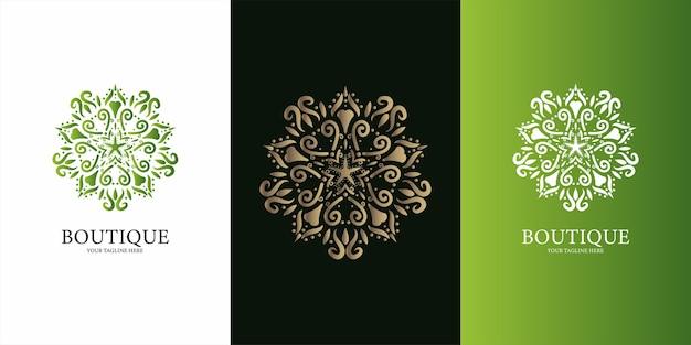 장식 로고 템플릿 디자인의 세트
