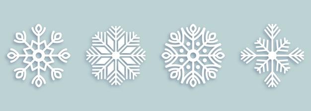 装飾用雪片のセット