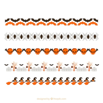 Set of ornaments with halloween elements