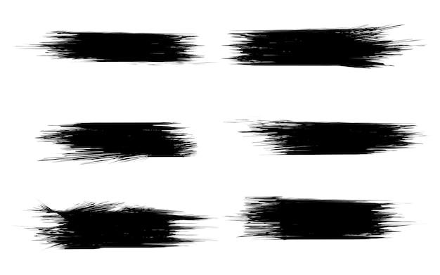 白で隔離される絵筆のセット