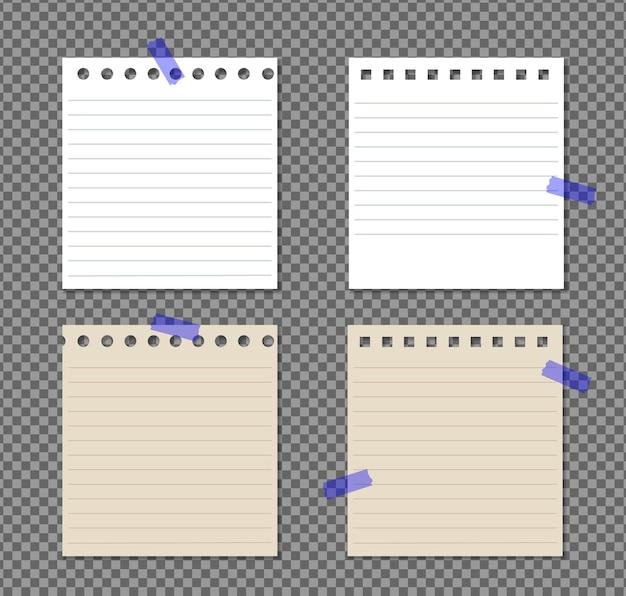 그림자, 현실적인 종이 페이지와 투명에 컬된 모서리와 종이 a4의 집합입니다.