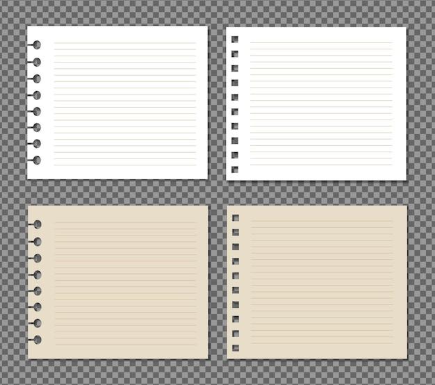그림자, 현실적인 종이 페이지와 투명에 종이의 집합입니다.