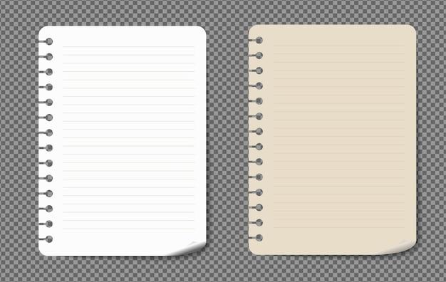 그림자가있는 종이 시트 a4, a5 세트, 현실적인 종이 페이지 모의.