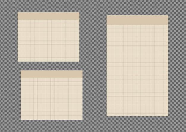Набор листов бумаги а4, а5 с тенями, реалистичная бумажная страница