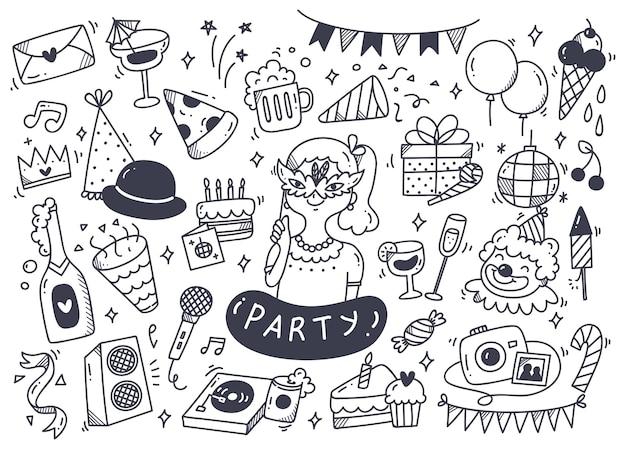 パーティー落書きとアクセサリーのセット