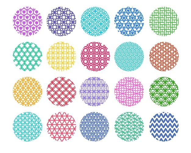 둥근 모양의 패턴 집합입니다.