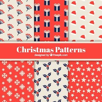 Набор шаблонов с элементами рождества