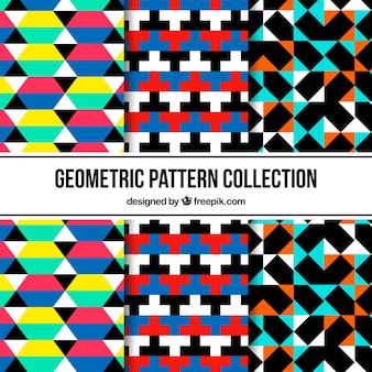 다채로운 추상적 인 형태와 패턴의 집합