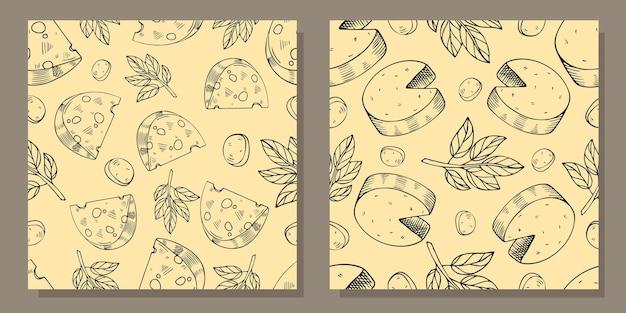 치즈 조각 패턴의 집합입니다.