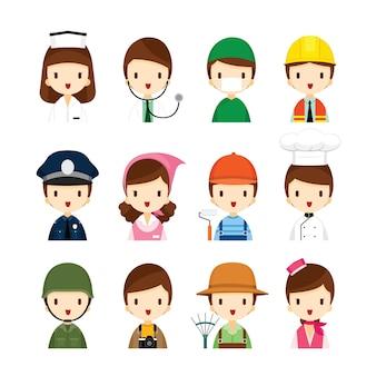 사람들의 직업, 어린이 꿈 직업의 집합