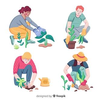 식물을 돌보는 사람들의 집합