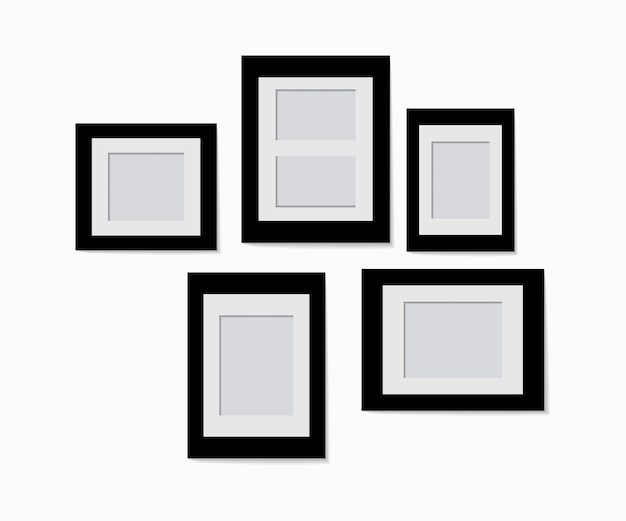 Набор дизайна фоторамки на липкой ленте, изолированные на прозрачном фоне