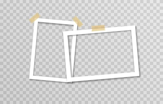접착 테이프가있는 사진 프레임 세트