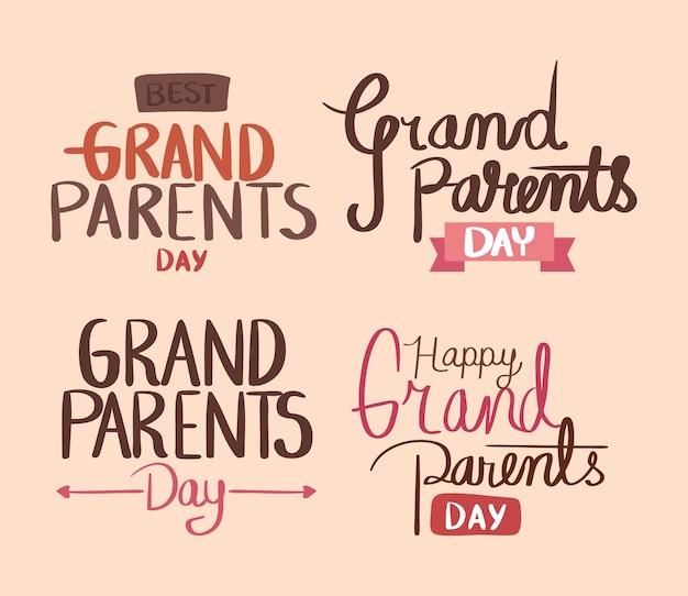 조부모를 위한 문구 세트