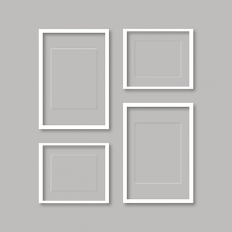 Пустой шаблон рамки кадра, изолированных на стене