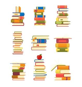 Набор стопок книг