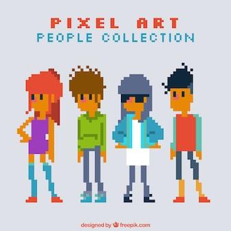Набор пиксельной подростков