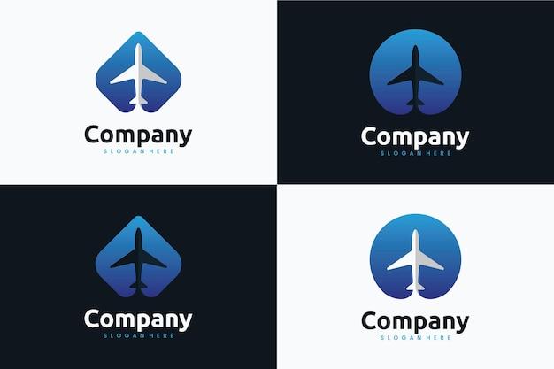 비행기 템플릿 세트, 로고 디자인 영감