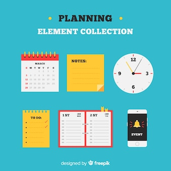 Set of planning elements