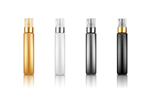 美容液、保湿剤、bbクリーム用のプラスチックパッケージポンプボトルモックアップのセット