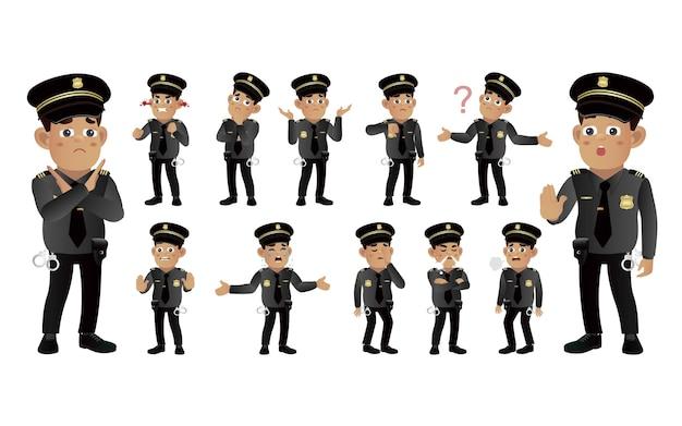 다른 감정을 가진 경찰관의 집합