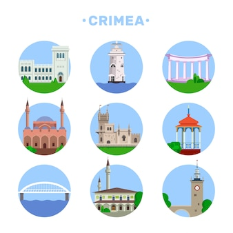 Набор популярной архитектуры в крыму