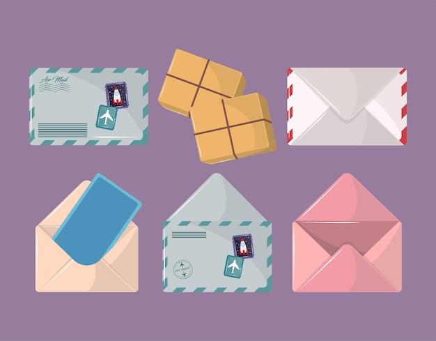 郵便サービスのセット