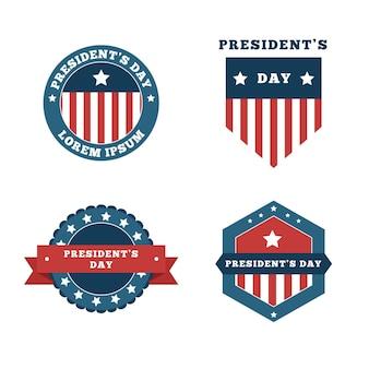 大統領の日のバッジのセット