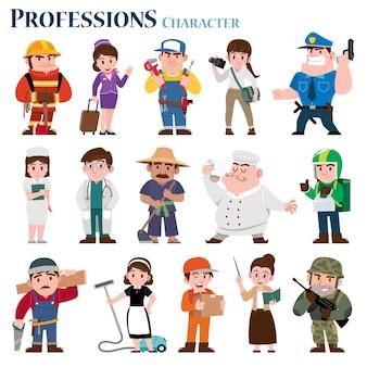 직업 만화 캐릭터 세트