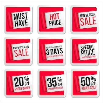 Набор рекламных наклеек продажи
