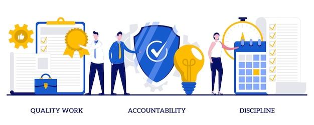 Набор качественной работы, подотчетности, дисциплины, управления задачами и проектами