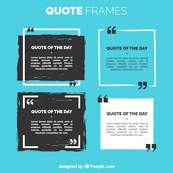 Set of quote frame