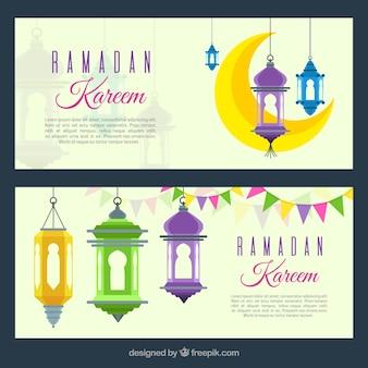 Набор рамаданских баннеров с орнаментом